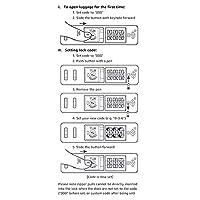 Amazon Basics - Trolley rigido Premium con rotelle pivotanti e lucchetto TSA integrato - 78 cm, Blu #6