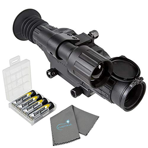 Sightmark Wraith HD 2-16x28 Digital Riflescope Bundle with 4 AA Batteries, Battery Box, and Lens Cloth