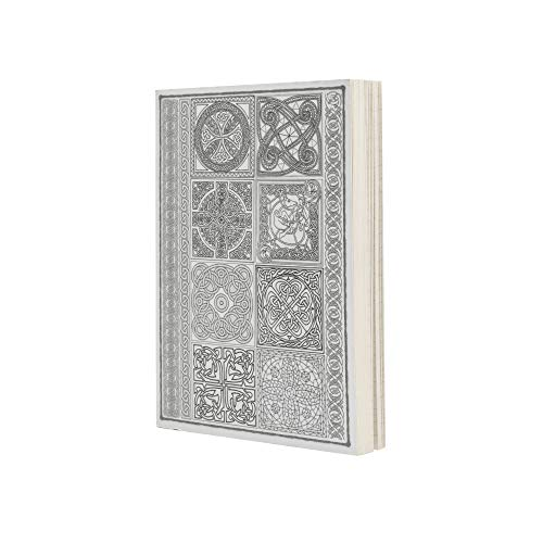 LayFlat Sketchbook - 3.75 x 5.3 Inches - Celtic Blank Note Book, 64 Sheets, Thick 100gsm Paper, for Drawing, Sketching, and journaling