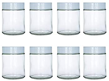 6 oz Glass Jars Fit Instant Pot Euro Cuisine GY1920 and Gourmia GYM1710 Yogurt Makers Set of 8