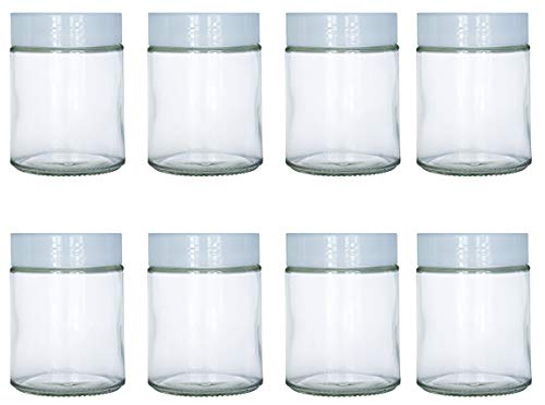 6 oz Glass Jars Fit Instant Pot, Euro Cuisine GY1920, and Gourmia GYM1710 Yogurt Makers, Set of 8