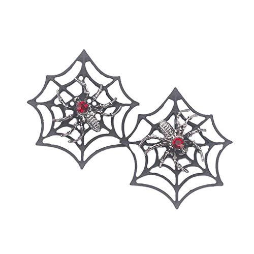 Team99 1 par de pendientes de araña para mujeres y hombres, punk murciélago, estrellas para Halloween, decoración de fiesta