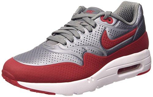 Nike Air Max 1 Ultra Moire, Scarpe Sportive, Uomo, Grigio (Mtlc Cool Grey/Gym Red-White), 40.5