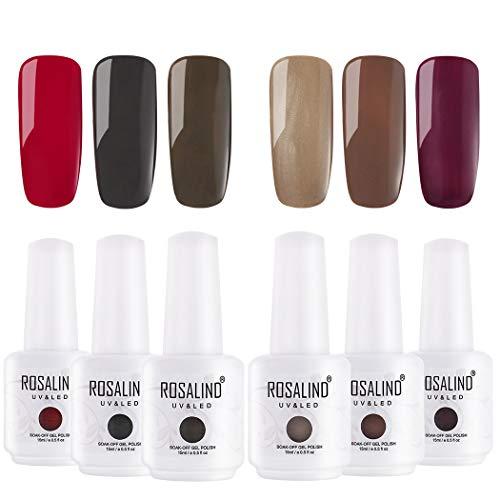 Rosalind braune Farbe Gel Nagellack benötigt Basis Top Nagelkunst UV-LED-Gel-Lacke können...