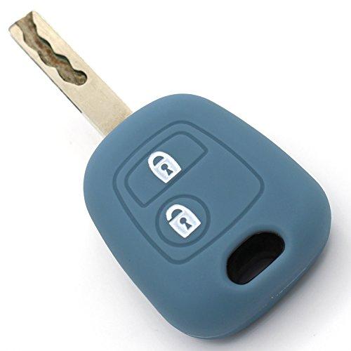 Protège-clé en silicone Finest-Folia - Pour clé de voiture à 2 boutons Gris cendre