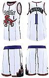 Jerseys Camiseta De Swingman NBA Toronto Raptors # 1 Chaleco + Pantalones Cortos Traje Bordado Retro Dinosaurio Ligero Transpirable, Camiseta De Baloncesto(Size:/3XL,Color:G2)