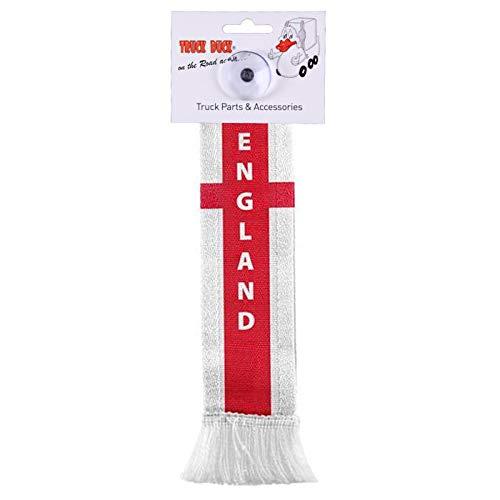 TRUCK DUCK® LKW Auto Minischal UK England Großbritannien Mini Schal Wimpel Flagge Fahne Saugnapf Spiegel Deko