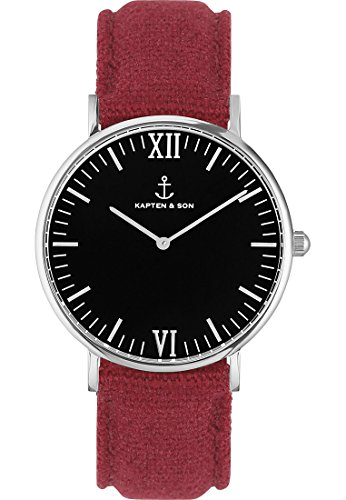 Kapten & Son Unisex-Uhren 40 Rot 32003694