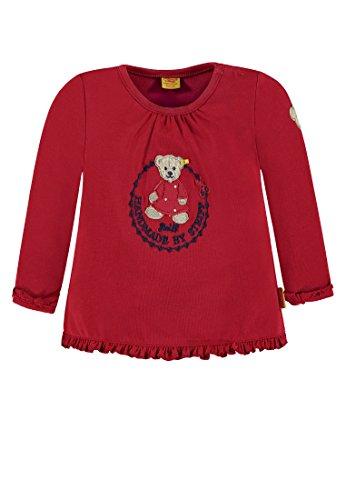 Steiff 1/1 Arm T-Shirt Manches Longues, Rouge (Rouge Jester 2120), 2 Mois Bébé Fille