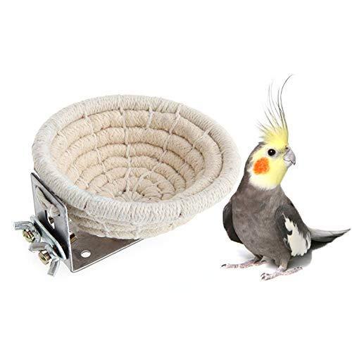 MEISO Vogelnest für Wellensittiche, Nymphensittiche, Sittiche, Sittiche, Sittiche, Kanarienvögel, Finken, Vögel und kleine Papageienkäfig, Nistkasten