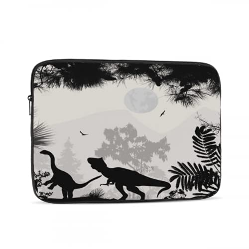 Macbook Pro 13inch Case Dinosaurs Silhouettes In Beautiful Landscape On WH Macbook Air 13 Accessories Multi-Color & Size Choices 10/12/13/15/17 Inch Computer Tablet Briefcase Carrying Bag