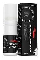 Beard Growth Spray® ヒゲ育毛剤、100%植物由来、力強いヒゲに