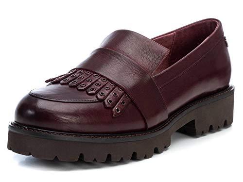 CARMELA - Zapato mocasín para Mujer - Suela Antideslizante - Burdeos - 36 EU