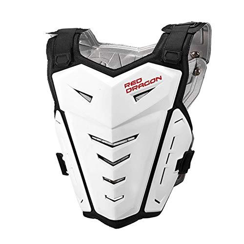 Buding Chaleco de protección para la columna vertebral y el pecho, para moto, ciclismo, esquí, equitación, patinaje, pecho, espalda, 5 colores