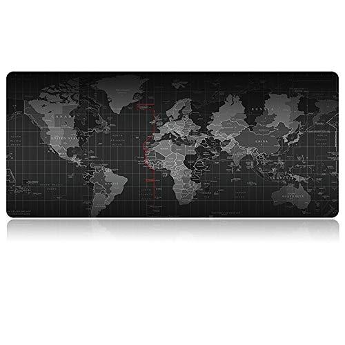 Tech Stor3 Tappetino XL Mappa del Mondo Gaming Mouse Pad, 60 x 30 cm, World Map con Base Antiscivolo in Gomma Naturale, Aderente e Liscio, Adatta ad Ogni Mouse, Tastiera e Laptop (60x30, Mappa Mondo)