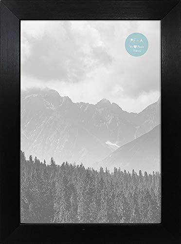 pf+a GLASS Window - A5 Black Premium Photo Picture Frame Portrait & Landscape