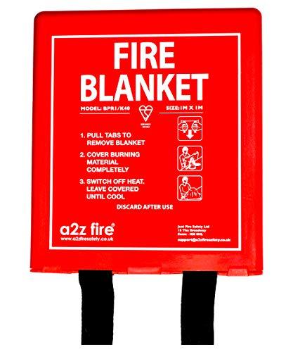 1.2m/×1.2m Couverture Anti-feu en Fibre de Verre Pour Survie Barbecue Camping Chemin/ée Protection Ignifuge et Isolation Thermique Voiture Pour Cuisine