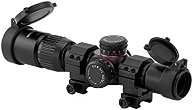 Monstrum G2 1-4x24 First Focal Plane FFP Rifle Scope with Illuminated BDC Reticle   Black