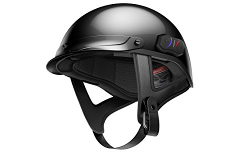 Sena Technologies Unisex Adult Cavalry Bluetooth Gloss Black Half Helmet Cavalry-CL-GB-L