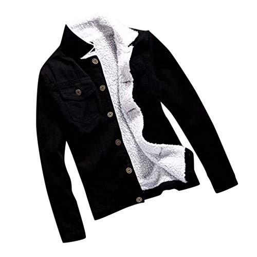 LIMITA Damen Jeansjacke Jeansjacke mit Teddyfutter Vintage Revers Jacke Langarm Lose Denim Mantel Herbst Wintermäntel Warme Strickjacken Fleecejacke