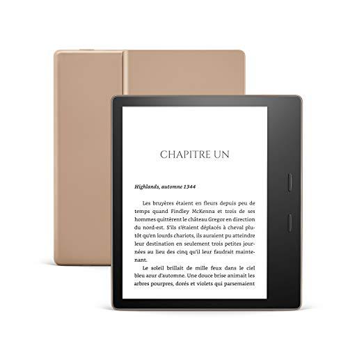 Kindle Oasis, Maintenant avec température d'éclairage ajustable, Résistant à l'eau, 32 Go Wi-Fi, Doré