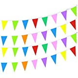 LoveVC 750 Feet Multicolor Pennant Banner String Flags Banners,Outdoor Party Decorations Supplies for Carnival,Grand Openning,Wedding,Kids Birthday,Sports Events Festivals Celebration