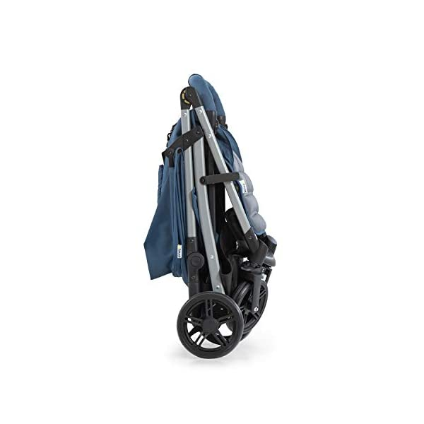 Hauck Rapid 4, 0 Months to 22 kg, Foldable, Compact, with one Hand, with Sleep Position, Height Adjustable Handle, Large Basket - denim/grey, Rapid 4, Up to 25 Kg Hauck Easy folding this pushchair is as easy to fold away as possible - the comfort stroller can be folded with one hand only within seconds, leaving one hand always free for your little ray of sunshine Long use this buggy can be used for a very long time. it is suitable from birth (also compatible with 2in1 carrycot or comfort fix infant car seat) up to a maximum of 22kg Comfortable back friendly push handle adjustable in height, the hood extendable; suspension, swivelling front wheels, soft padding, and large shopping basket 22