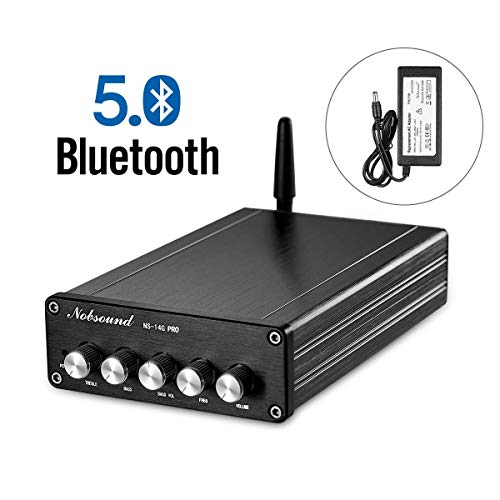 Nobsound NS-14G PRO Bluetooth 5.0 HiFi Stereo 200W 2.1 Channel Subwoofer Power Amplifier Audio Amp Treble Bass Control Home Speaker Car Audio with Power Supply