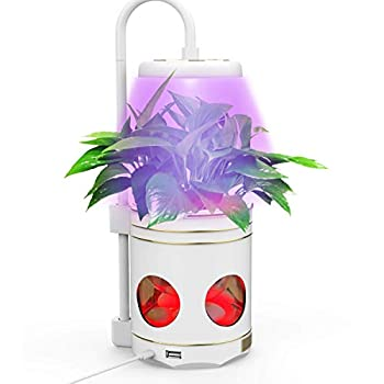 Indoor Plant Lights Plant Grow Light 4 in 1 Smart Full Spectrum Led Plant Grow Lights Desk Table Lamp for Indoor Plants Built-in Reading Mode and RGB Night Light Mode  White