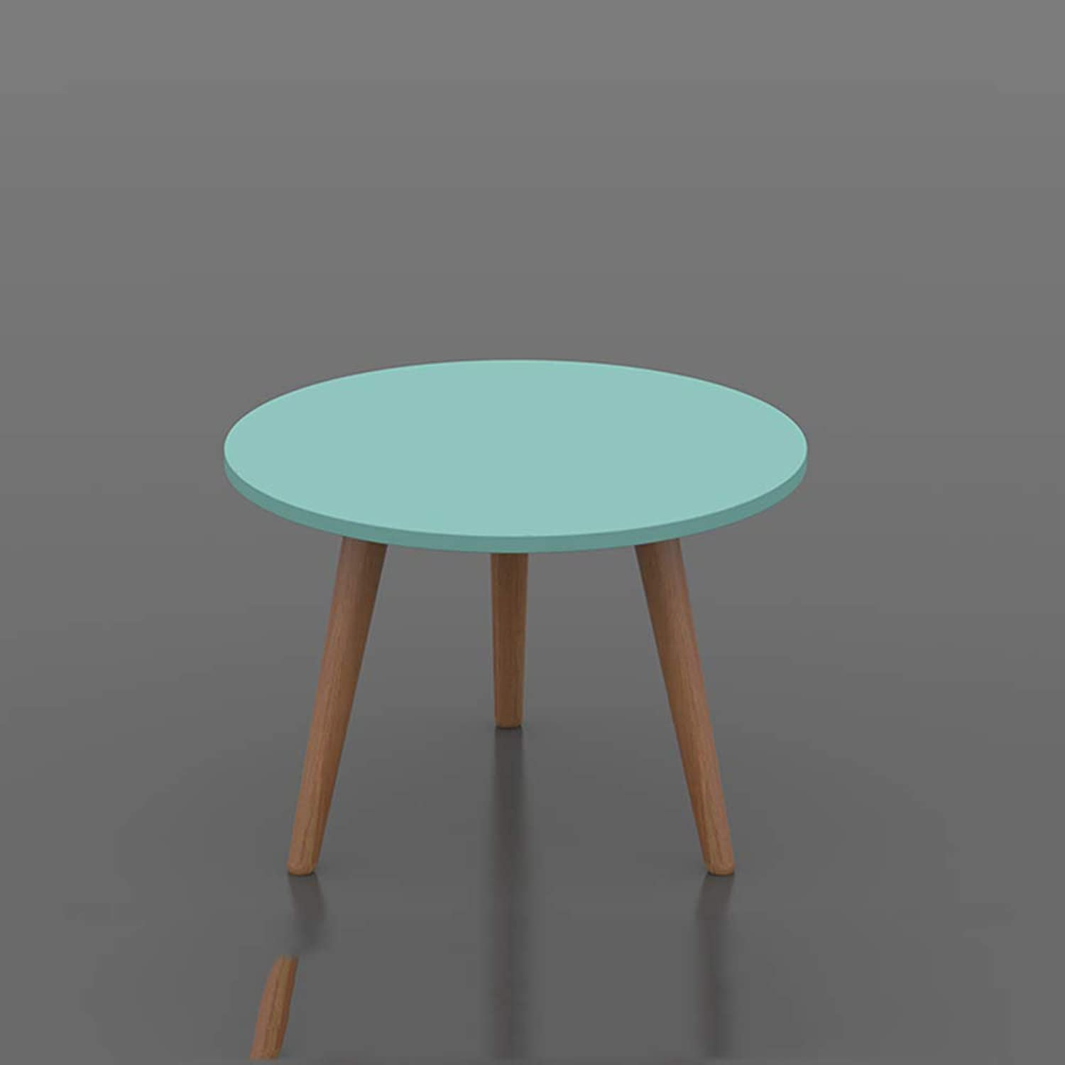 HPLL Laptop Table Triangle Side Coffee Table, Round Simple Modern Triangular Side Table Office, Kitchen, Living Room (color   2, Size   40  40  29cm)