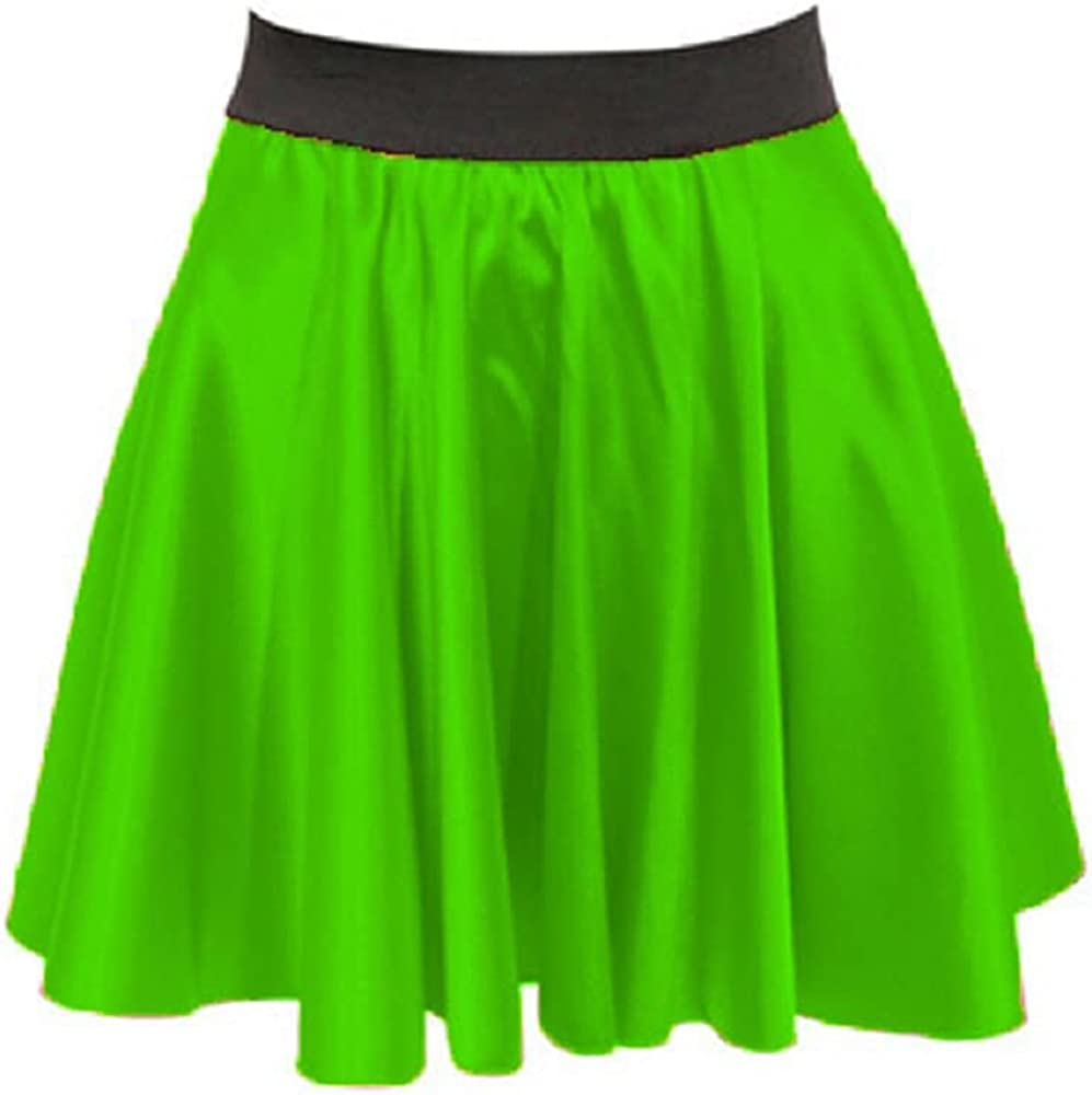 Meek Mercery Casual/Party Wear Stretchy Skirt Satin Elegant Skirt Short Skater Skirt S11.1