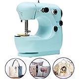 Yimeezuyu Mini Máquina de coser eléctrica portátil para manualidades, velocidad de corregimiento del hogar, máquina de coser automática para viajes en casa, Verde, 1