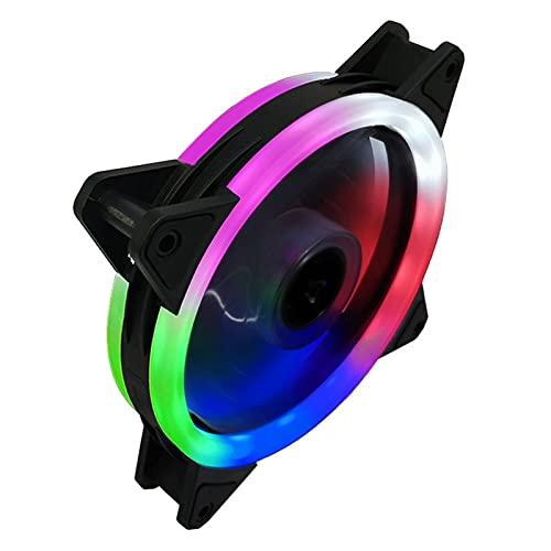 Chasis 120 mm 4pin RGB Caja Ventilador enfriamiento fanscolorful Azul Rojo Blanco Fluido cojinete DIRIGIÓ Fan de refrigeración por computadora Radiador KOELVENTILADOR Accesorios