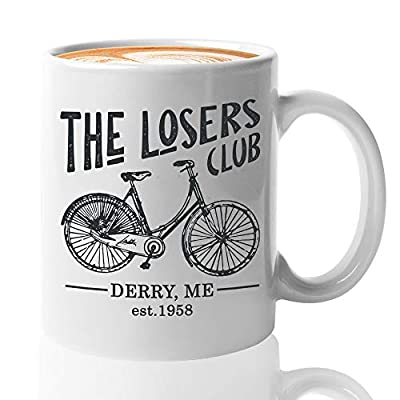 Horror Movie Coffee Mug 11 Oz - The Losers Club - Inspired Quotes Film Cinema Film Book Mystical Pennywise The Dancing Clown Derry Actor Actress Fan