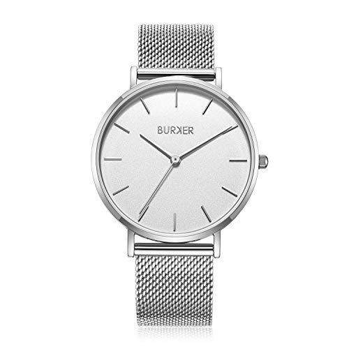 Burker Ruby – dameshorloge | 38 mm horloge voor dames met wijzerplaat | vrouwen kwarts polshorloge waterdicht (30M) | kleine platte horloge behuizing – horloges armband inclusief