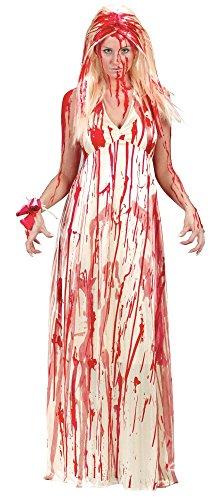shoperama Blutbesudeltes Carrie Kostüm für Damen Prom Nightmare Zombie Braut Jungfrau Horrorfilm, Größe:M/L