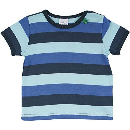 Fred'S World By Green Cotton Multi Stripe S/s T Baby T-Shirt, Multicolore (Blue 019403901), 74 Bébé garçon