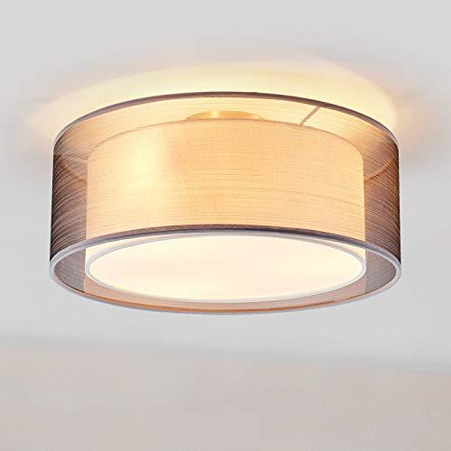 Lindby Deckenlampe \'Nica\' dimmbar (Modern) in Alu aus Textil u.a. für Wohnzimmer & Esszimmer (3 flammig, E14, A++) - Deckenleuchte, Lampe, Wohnzimmerlampe