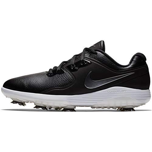 NIKE Men's Vapor Pro Golf Shoe, Black/Metallic cool Grey - White - Volt, 8.5 M US