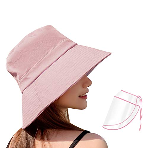 Cotton Bucket Hat for Men and Women Unisex Trendy Outdoor Hot Summer Beach Cap, Pink