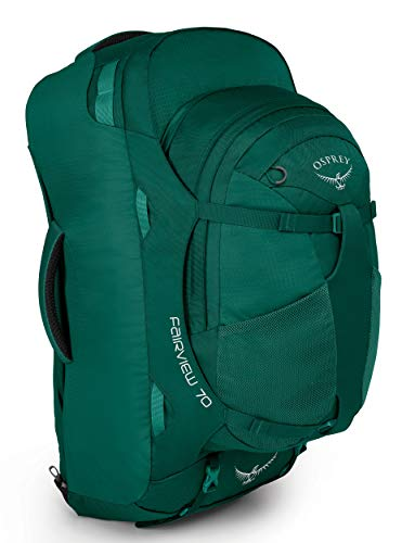 Osprey Fairview 70 Women's Travel Pack with 13L Detachable Daypack - Rainforest Green (WS/WM)