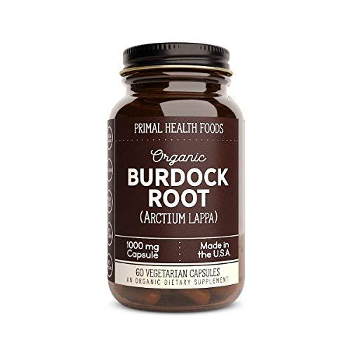 Primal Health Foods Organic Burdock Root - 60 Capsules 1,000 mg Per Capsule [Vegetarian, Organic, Non-GMO & Gluten Free]