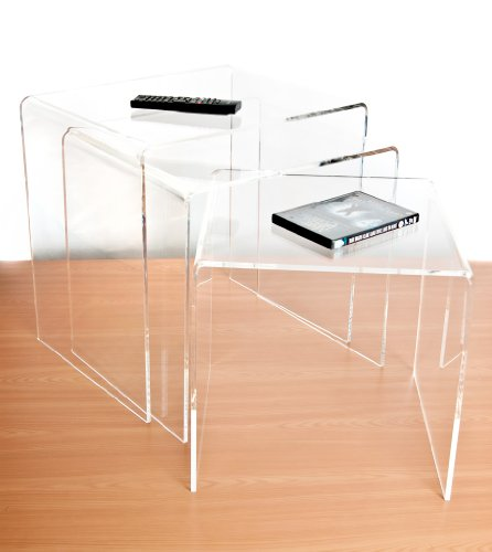 Wrights Plastics GPX Clear Acrylic Nest Of Tables (Set Of 3)