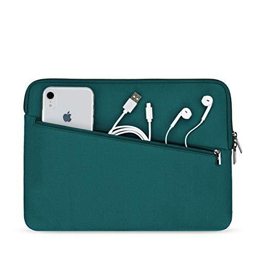 Artwizz Neoprene Sleeve PRO Tasche geeignet für [MacBook Air 13 (2020-2018), MacBook Pro 13 (2020-2016)] - Schutzhülle mit extra Zubehör-Fach - Petrol