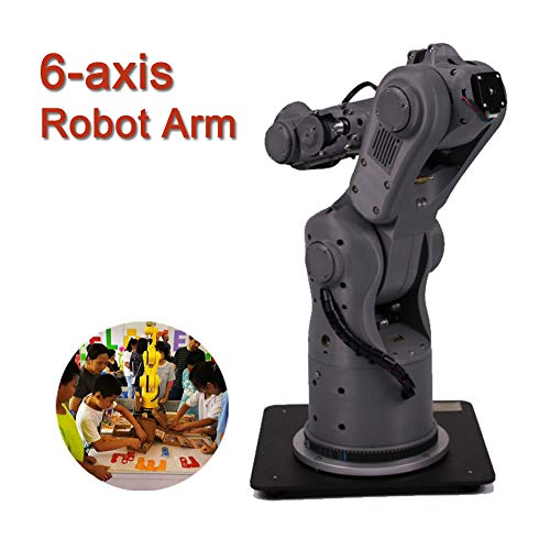 MYLW 6-axis Robot Arm Multi-function Humanoid Bionic DIY Education 3D Printed teaching pendant Toy Programmable High Precision Mechanical