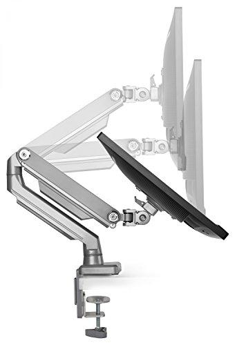 RICOO PC Monitor Tisch-Halterung Schwenkbar Neigbar Vollbeweglich (TS8711) Universal für 15-30 Zoll (bis 8-Kg, VESA 100x100) Computer Bildschirm-Ständer Mechanische Feder