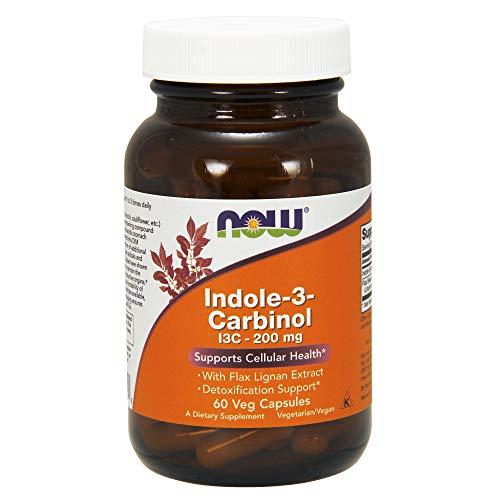 Now Foods I Indole-3-Carbinol 200mg I Zellgesundheit und Detoxifikation I Vegetarisch I Vegan I 60 Kapseln