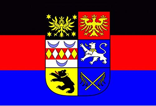 Fanshop Lünen Fahne Flagge Ostfriesland ostfriesische Flaggen Hissfahne mit Ösen 90x150 cm Friesland