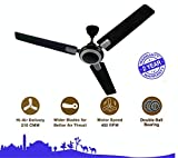 Indo Supreme 1200 mm ceiling fan high speed I Double Ball Bearing With 400 RPM Highest Air Delivery I 100 % Copper Winding I Smoke Brown I 2 Year Warranty I Made In India