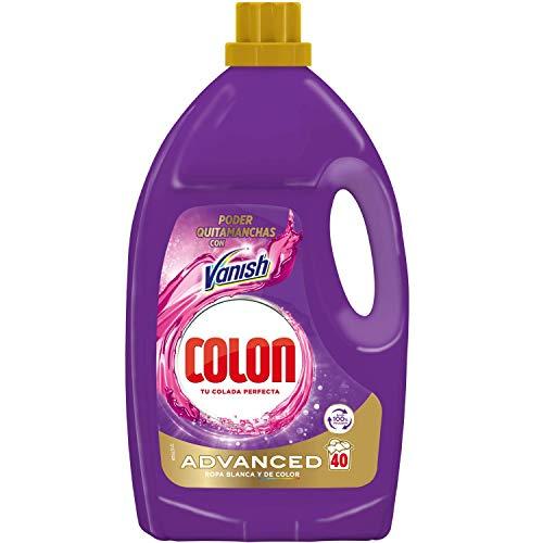 Colon Vanish Advanced - Detergente para Lavadora con Quitamanchas, adecuado para Ropa Blanca y de Color, Formato Gel, hasta 40 Dosis